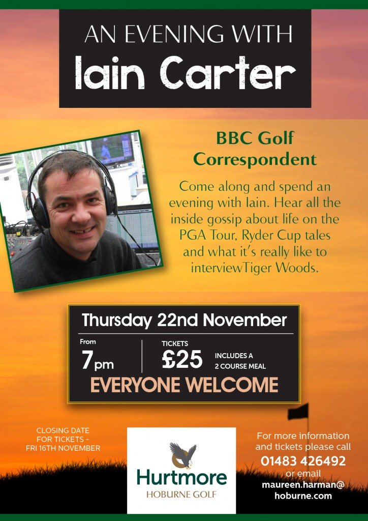 An evening with Iain Carter poster